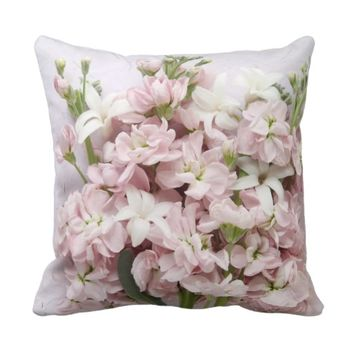 pale pink blossoms throw pillow