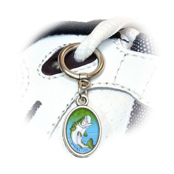 Bass Fish - Fishing Jumping Out of Water Shoe Charm