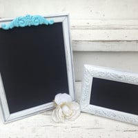 Chalkboards, Wedding Chalkboards, Set of 2 Chalkboards