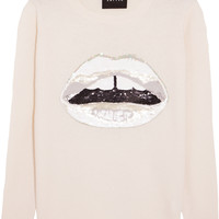 Markus Lupfer - Lara Lip sequined merino wool sweater