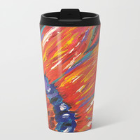 Abstract Sunflower Metal Travel Mug by Express Yourself Studios, LLC