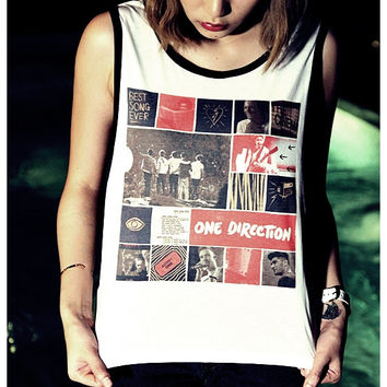 One Direction Shirt Women Tank Top Sideboob Size S, M, L