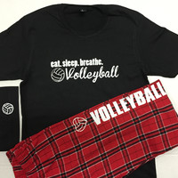 Volleyball Pajama Sets Eat. Sleep.Breathe.