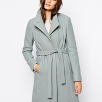 Reiss Collarless Belted Coat