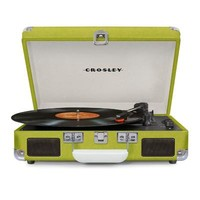 Crosley Cruiser Deluxe Retro Turntable with Bluetooth CR8005D - It's Portable! - Green Vinyl
