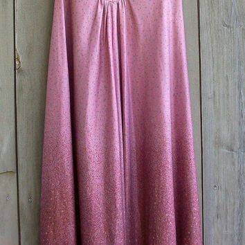 Vintage dress - Mauve ombre floral print maxi dress