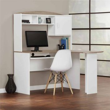 Mainstays L-Shaped Desk with Hutch, Multiple Colors - Walmart.com