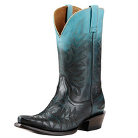 Ariat Womens Ombre Blue X Toe Leather Cowgirl Western Boots