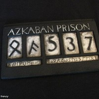 Harry Potter and the Half Blood Prince (2009), LUCIUS MALFOY AZKABAN PRISON ID, other replicas
