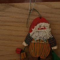 ornament santa clause handmade by rocksntwigs on Etsy