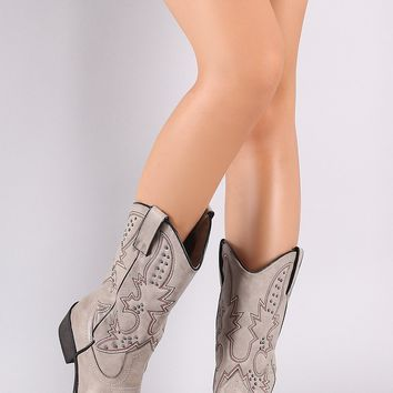 Western Studded Cowboy Boots