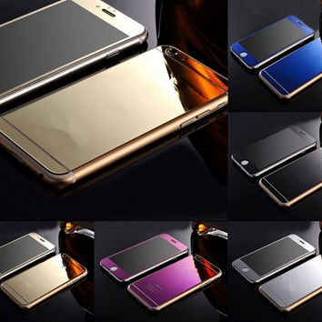 Gold Mirror Tempered Glass Front+Back Screen Protector For iPhone 6 5 5S 6p WI sa = 1931955076