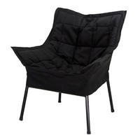 Casual Home Milano Metal Chair, Black Metal Frame with Black Outer cover