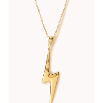 Lightning Bolt Long Necklace