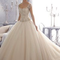 Mori Lee 2680 Beaded Ball Gown Wedding Dress