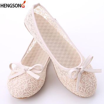 Women Flat Shoes 2018 New Summer Lace Shallow Mouth Shoes Woman a2beba8d192e