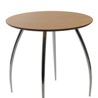 Round Bistro Table Natural/Chrome 30""
