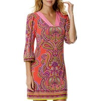Laundry by Shelli Segal Printed Paisley Shift Dress