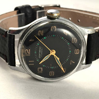 "RARE Vintage Soviet Men's ""SPORTIVNIE"" Watch. Comes with new leather band!"