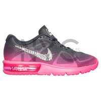 Blinged Womens Nike Air Max Sequent Running Shoes Pink Grey Blinged Out With Swarovski Crystal Rhinestones