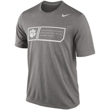 Nike Clemson Tigers 2014 Football Sideline Training Day Legend Dri-FIT Performance T-Shirt - Gray