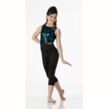 ITS ELECTRIC Capri Unitard Baton Acro Dance Costume Child 6x7 & Adult M & L NEW
