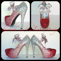 Ombre Glitter High Heels by ChelsieDeyDesigns on Etsy