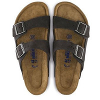 Birkenstock Arizona Soft Footbed Suede Sandal- Velvet Gray