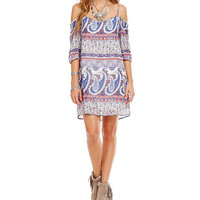 Soulmates Bandana Paisley Print Dress | Dillards
