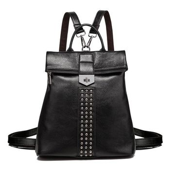 Leather Studded Backpack