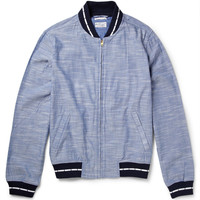 Gant Rugger - Chambray Varsity Jacket | MR PORTER