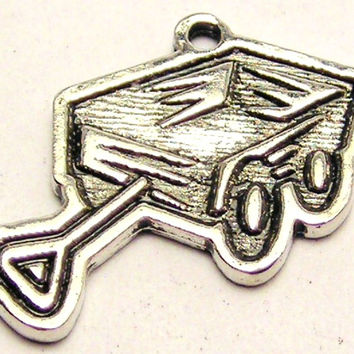 Little Red Wagon Genuine American Pewter Charm