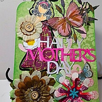 Happy Mother's Day Handmade Oversized Gift Tag. Ready to Ship.