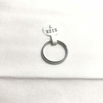 TL Size 7 Ring for Women  Charming Stainless Steel Silver Ring Simple Design Jewelry Wedding Ring For Female