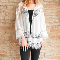 Angelette Lace Jacket - White | Glamour and Glow