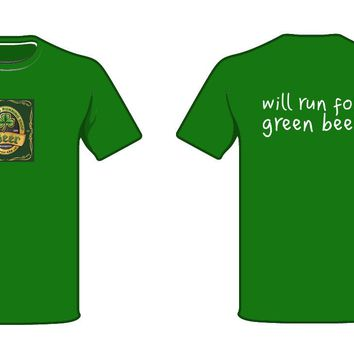 ARS Brooks Unisex Podium Irish Beer Label Shirt