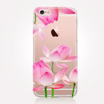 Transparent Lotus iPhone Case - Transparent Case - Clear Case - Transparent iPhone 6 - Transparent iPhone 5 - Transparent iPhone 4