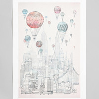 David Fleck For Society6 Voyages Over New York Art Print