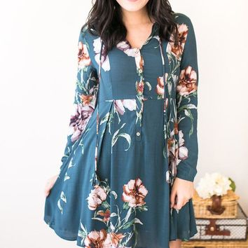 Kimberly Floral Dress with Pockets
