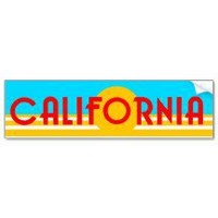 VIntage California Logo Bumper Sticker