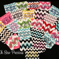 Monogrammed Chevron Pocket by SewPreciousMonograms on Etsy