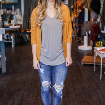 Main Drag Cardigan - Mustard