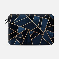 Navy Stone Macbook 12 Sleeve by Elisabeth Fredriksson | Casetify