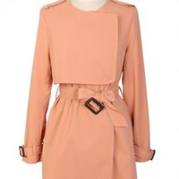 Fly Away Layered Storm Flap Fitted Trench Coat in Sweet Pink | Sincerely Sweet Boutique