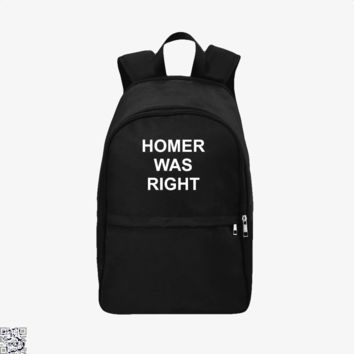 Homer Was Right, The Simpsons Backpack