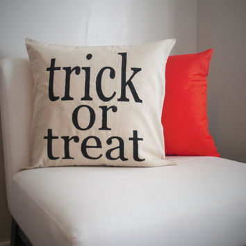 Trick of Treat -Halloween Pillow Cover