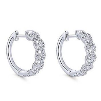 Gabriel Interlocking Link Diamond Huggie Earrings 4bd819a020