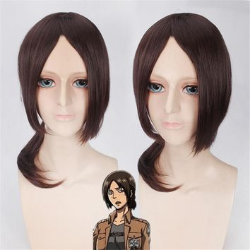Cool Attack on Titan Hot Sale  Ymir Cosplay Wigs for Women Medium Long Brown Synthetic Hair Wig Christmas Gift Anime Party AT_90_11