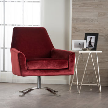 Aegis New Velvet Modern Swivel Club Chair