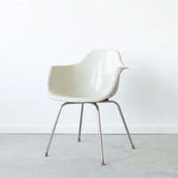 Vintage 1960's Eames Style Krueger Arm Chair in Light Grey